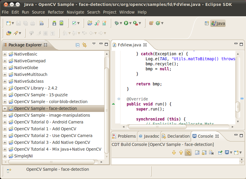 how to use opencv in eclipse java